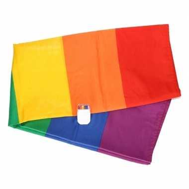 Vlag en schminkstift met regenboog print