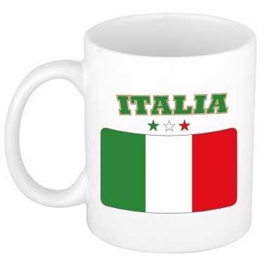 Vlag italie beker 300 ml