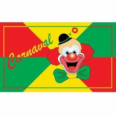 Vlag met carnavals clown