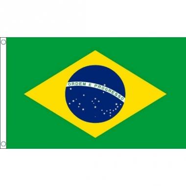 Vlag van brazilie mini formaat 60 x 90 cm