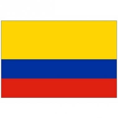 Vlag van colombia mini formaat 60 x 90 cm