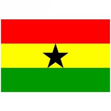 Vlag van ghana mini formaat 60 x 90 cm