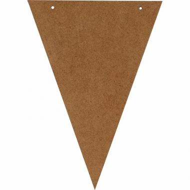 Vlaggenlijn maken houten vlaggetjes 19 cm