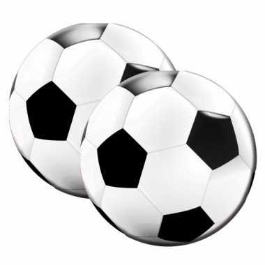 Voetbal servetten 20 stuks