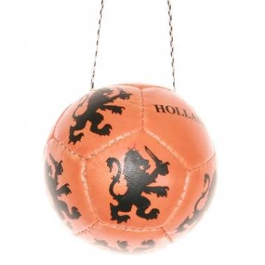 Voetballetje aan koord oranje