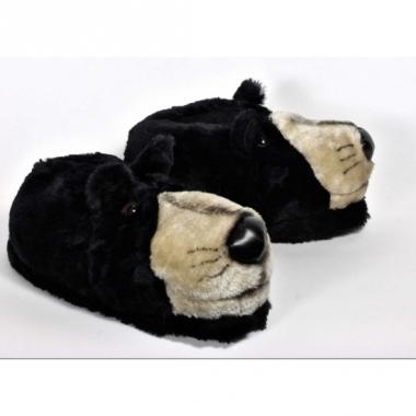 Volwassenen dieren pantoffels beer