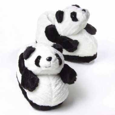 Volwassenen dieren pantoffels panda