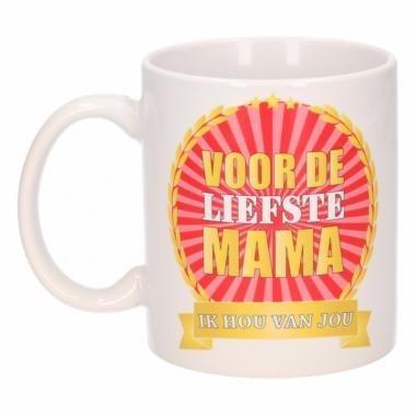 Voor de liefste mama koffiemok / beker 300 ml
