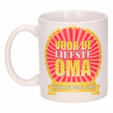 Voor de liefste oma koffiemok / beker 300 ml