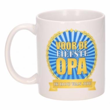 Voor de liefste opa koffiemok / beker 300 ml
