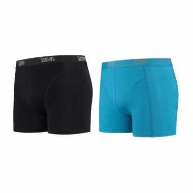 Voordeelpakket lemon and soda boxers zwart en blauw 2 stuks xl
