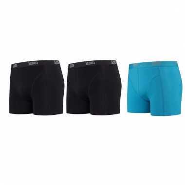 Voordeelpakket lemon and soda boxers zwart en blauw 3 stuks 2xl