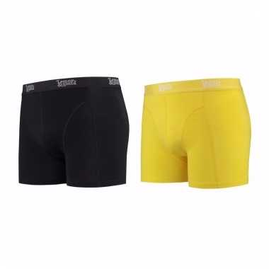 Voordeelpakket lemon and soda boxers zwart en geel 2 stuks l
