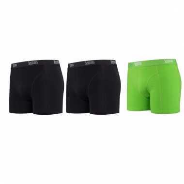 Voordeelpakket lemon and soda boxers zwart en groen 3 stuks s