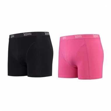 Voordeelpakket lemon and soda boxers zwart en roze 2 stuks xl