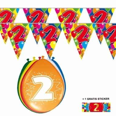 Voordeelset 2 jaar met 2 vlaggenlijnen en ballonnen