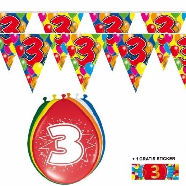 Voordeelset 3 jaar met 2 vlaggenlijnen en ballonnen