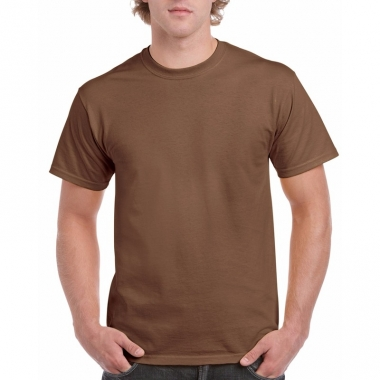 Voordelig bruin t-shirt voor volwassenen