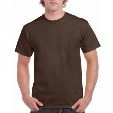 Voordelig donkerbruin t-shirt voor volwassenen