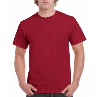 Voordelig donkerrood t-shirt voor volwassenen