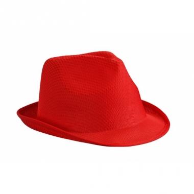 Voordelig hoedje rood polyester