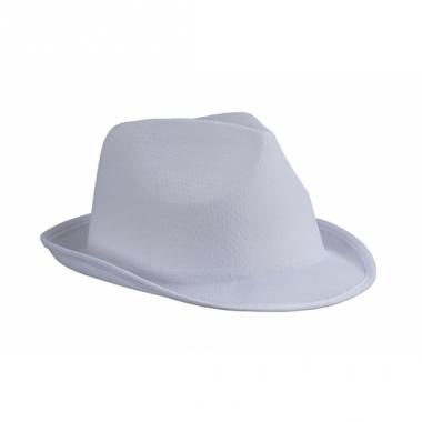 Voordelig hoedje wit polyester