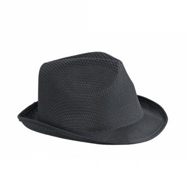 Voordelig hoedje zwart polyester