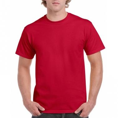 Voordelig kersenrood t-shirt voor volwassenen