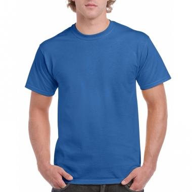 Voordelig kobaltblauw t-shirt voor volwassenen