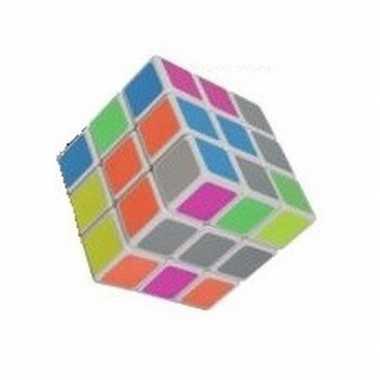 Voordelig kubus spelletje 6 cm