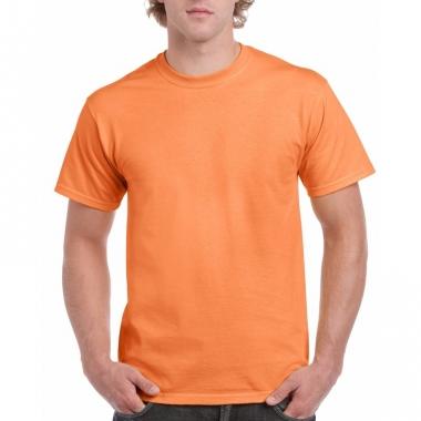 Voordelig licht oranje t-shirt voor volwassenen