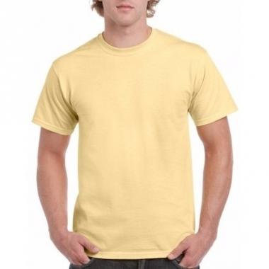 Voordelig lichtgeel t-shirt voor volwassenen