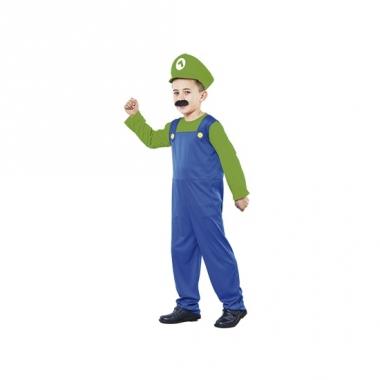 Voordelig loodgieter kostuum kids groen