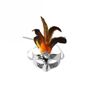 Voordelig oogmasker metallic zilver