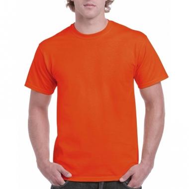 Voordelig oranje t-shirt voor volwassenen