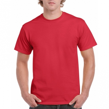 Voordelig rood t-shirt voor volwassenen