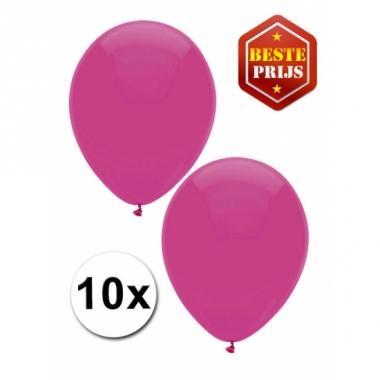 Voordelige donker roze ballonnen 10 stuks
