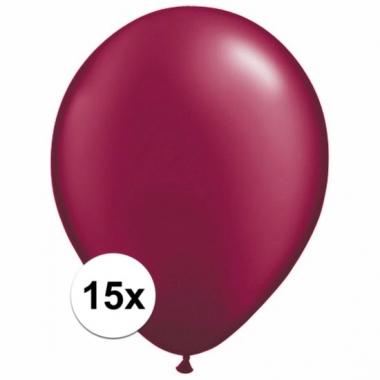 Voordelige donkerrode ballonnen 15 stuks