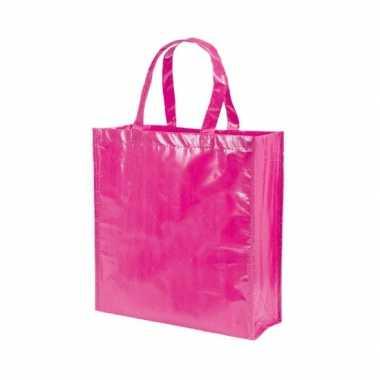 Voordelige fuchsia roze tas