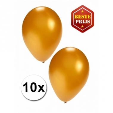 Voordelige gouden ballonnen 10 stuks
