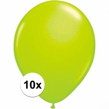 Voordelige groene ballonnen 10 stuks