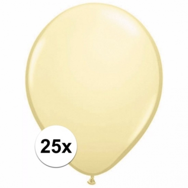Voordelige ivoren ballonnen 25 stuks