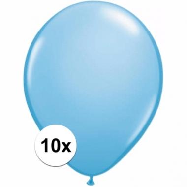Voordelige lichtblauwe ballonnen 10 stuks