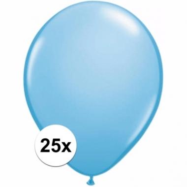 Voordelige lichtblauwe ballonnen 25 stuks