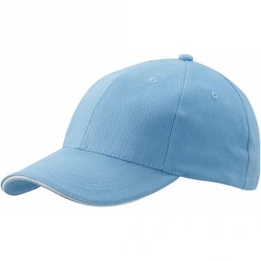Voordelige lichtblauwe baseball pet