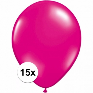 Voordelige magenta roze ballonnen 15 stuks