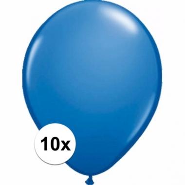 Voordelige metallic blauwe ballonnen 10 stuks