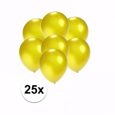 Voordelige metallic gele ballonnen klein 25 stuks