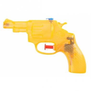 Voordelige oranje waterpistool 13 cm