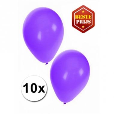 Voordelige paarse ballonnen 10 stuks